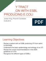 esbl producing e