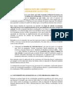 TRANFORMACION DE COORDENADAS GEOGRÁFICAS EN UTM