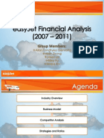 EasyJet Financial Analysis 2007-2011