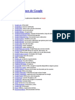 72 Aplicaciones de Google
