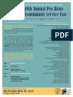 2012 Probono Community Service Fair