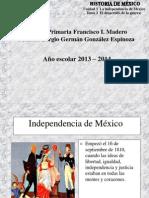PRESENTACIÓN DE INDEPENDENCIA.