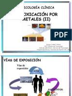 INTOXICACIÓN POR METALES (II)-2013