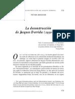 Krieger Derrida y Deconstruccion