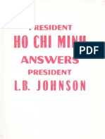 President Ho Chi Minh Answers President LB Johnson