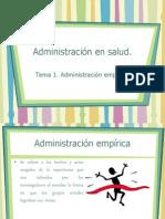 Administración en salud tema 1