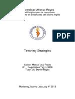 Teaching Strategies Essay Marisol 8