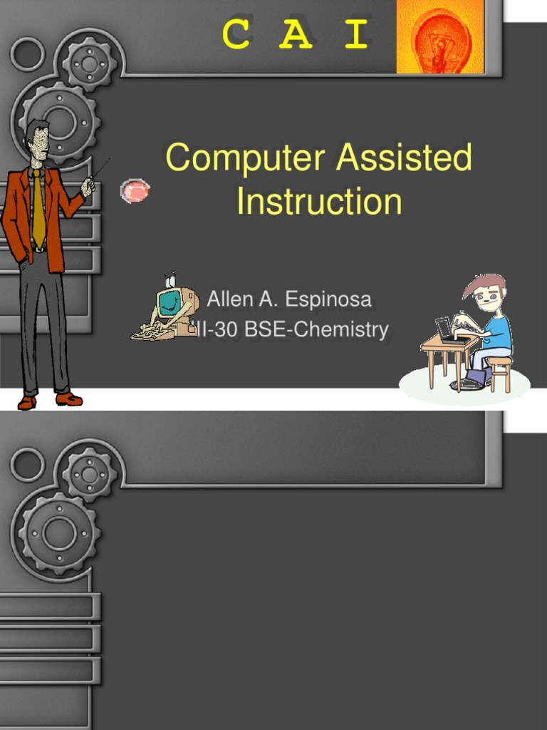 14101171 Computer Assisted Instruction Cai 1 Educational