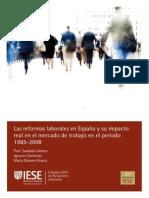 Impacto de las Reformas Laborales en España 1985-2008 (IESE)