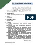 Prosedur Kerja Di Dalam Laboratorium Revisi 04