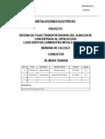 Dreyfuss - Memoria de Calculo de Conductores 460VAC