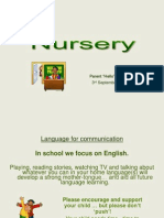 Nursery 'Curriculum 13-14' Presentation