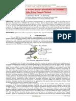 Optimization of WEDM Process Parameters on Titanium Alloy Using Taguchi Method