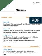 Textele Studiului 13 - Misiunea