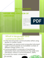 Introduction to Linguistic