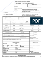 Member's Data Form (Mdf) Print