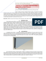 Deformation Analysis of a Triangular Mild Steel Plate Using CST as Finite Element
