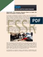 Cours Premiers Secours | ESSR