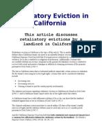 Retaliatory Eviction in California