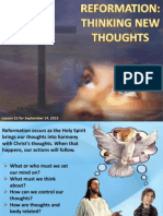 3rdQuarter2013 Lesson 11 Reformation Thinking New Thoughts
