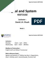 Signal & System - Week 1