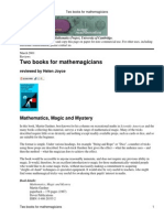 Two Books for Mathemagicians