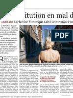 Le Soir- La Prostitution en Mal de Localistaion - 12.09.13