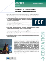 PISA for development - The OECD's contribution on education to the post-2015 framework
