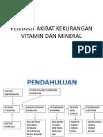 Penyakit Akibat Kekurangan Vitamin Dan Mineral