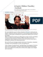 Pakistan's Chief Justice I Suffers Public Backlash