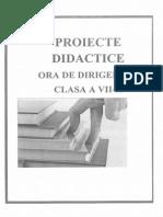 Proiect Didactic Ora de Dirigintie Cl VII