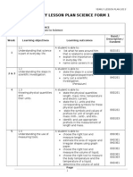 Yearly Lesson Plan Science Form 1 2013