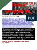 Noticias Uruguayas Miercoles 11 de Setiembre Del 2013