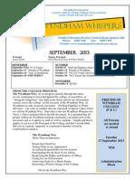 Wyndham Whispers September 2013