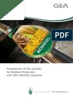 Biodiesel Production Pretreatment Oils Fats 9997 1150 030