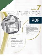 7 Sistema Operativo Windows. Operaciones Con Directorios o Carpetas
