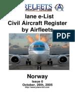 Civil Airfleets Register - Norway