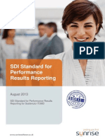Sunrise SDI Standard for Performance Results for Sostenuto ITSM3