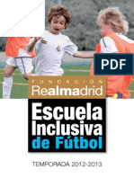 Folleto Escuelas Inclusivas Futbol