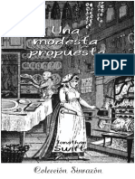 Una modesta proposición - Jonathan Swift