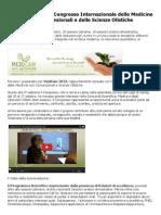 Medcam 2013 IV Congresso Internazionale Medicina Non Convenzionale E Delle Scienze Olistiche