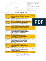 Mobile Computing 2013-2014