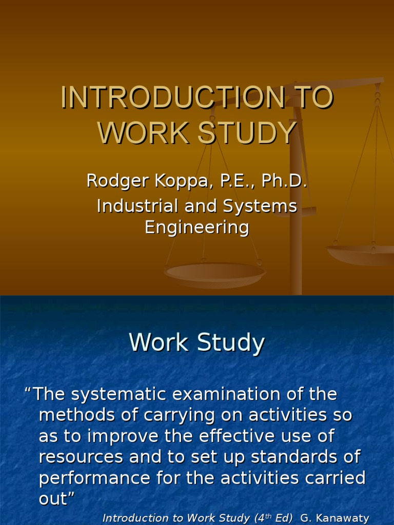 an introduction to the analysis of efficiency in the workplace Introduction motivation is an important tool that is often under-utilized by managers in today's workplace managers use motivation in the workplace to inspire people to work individually or in groups to produce the best results for business in the most efficient and effective manner.