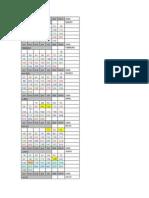 2009 Calendario de Guardias