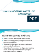Water Use and Regulation Ghana