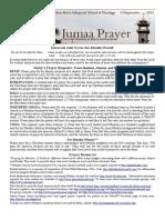 Jumaa Prayer 13 September 2013