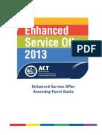 Assessing Panel Guide Enhanced Service Offer