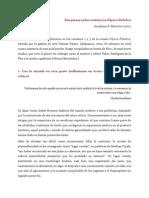 Jónatham F. Moriche - Dos piezas sobre estética en Pájaro Palabra (2001)