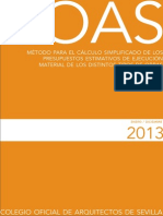 12Cálculo simplificado de los presupuestos estimativos de ejecución material año 2013