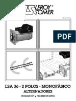 Generador Leroy Sommer Lsa36 Monofasico
